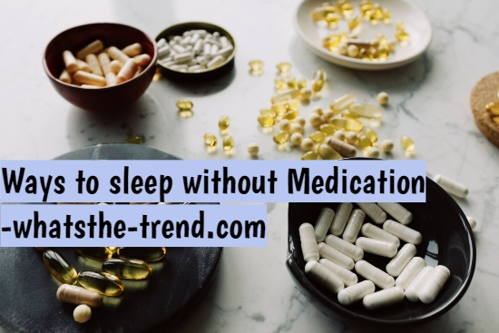 Sleep without medication